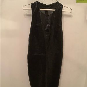 Alive+Olivia Layne Lamb Leather Sexy Little Dress